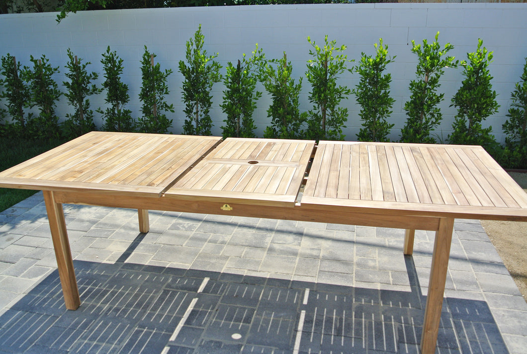 Outdoor Teak Expansion Table