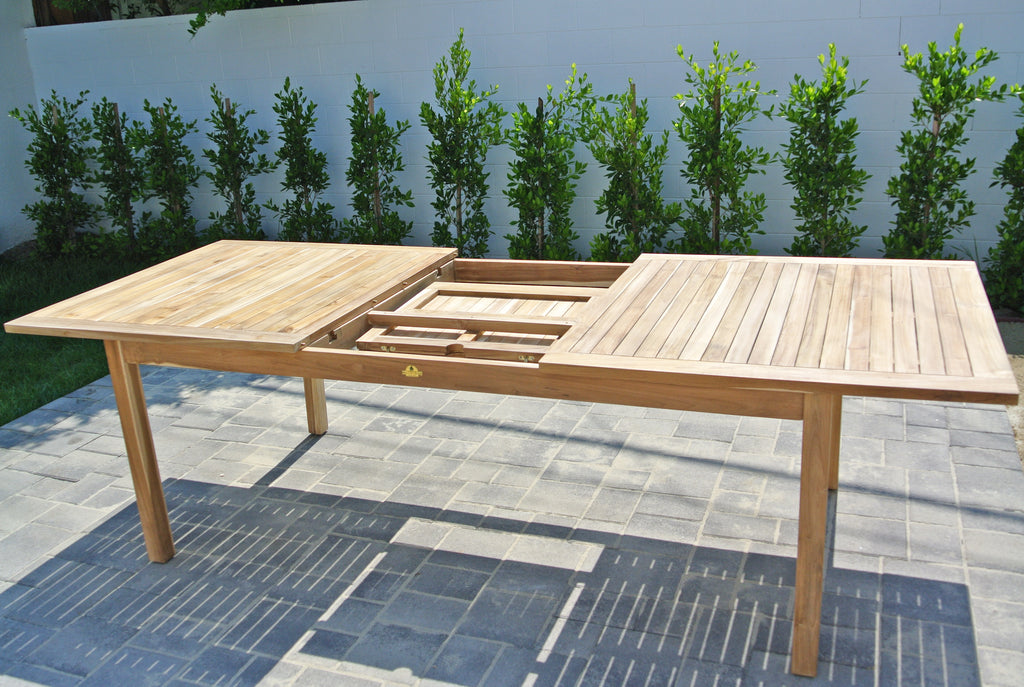 Outdoor Expansion Table Teak Furniture Outdoor Table