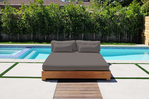 Westgate Teak Outdoor Daybed. Sunbrella Cushion.