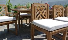 Teak Outdoor Dining Set with Expansion Table