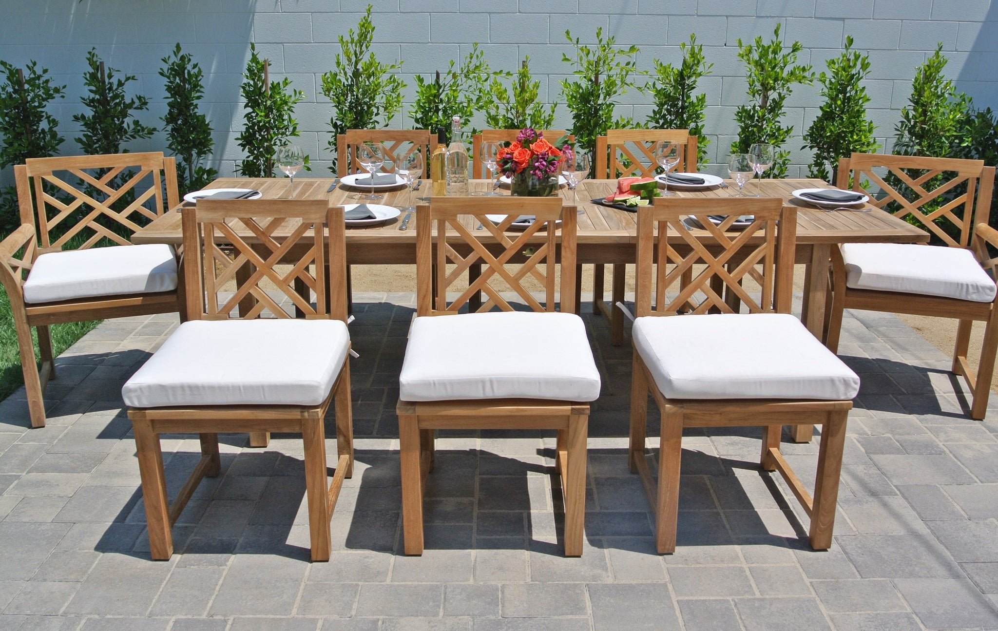 ... Teak Outdoor Dining Set With Expansion Table ...