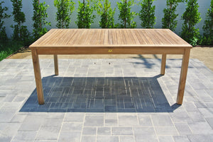 "Grade A Teak Dining Table 72"" Rectangular"