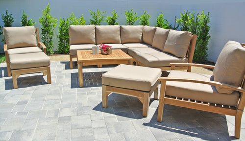 Teak Outdoor Sectional Seating Group