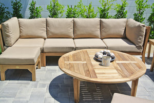 Teak Outdoor Deep Seating with Sunbrella Cushions