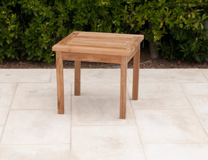 Teak Square End Table