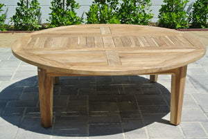 "Outdoor Teak 52"" Coffee Chat Table"