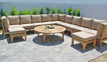 Outdoor Teak Deep Seating Sectional with Sunbrella Cushion