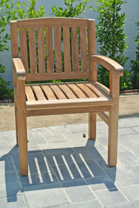 Grade A Teak Outdoor Armed Dining Chair