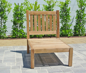 Teak Armless Outdoor Chair