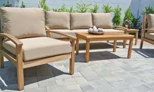 Teak Outdoor Deep Seating with Sunbrella Cushion