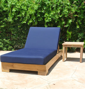 Teak Outdoor Chaise Lounge with Sunbrella Cushion