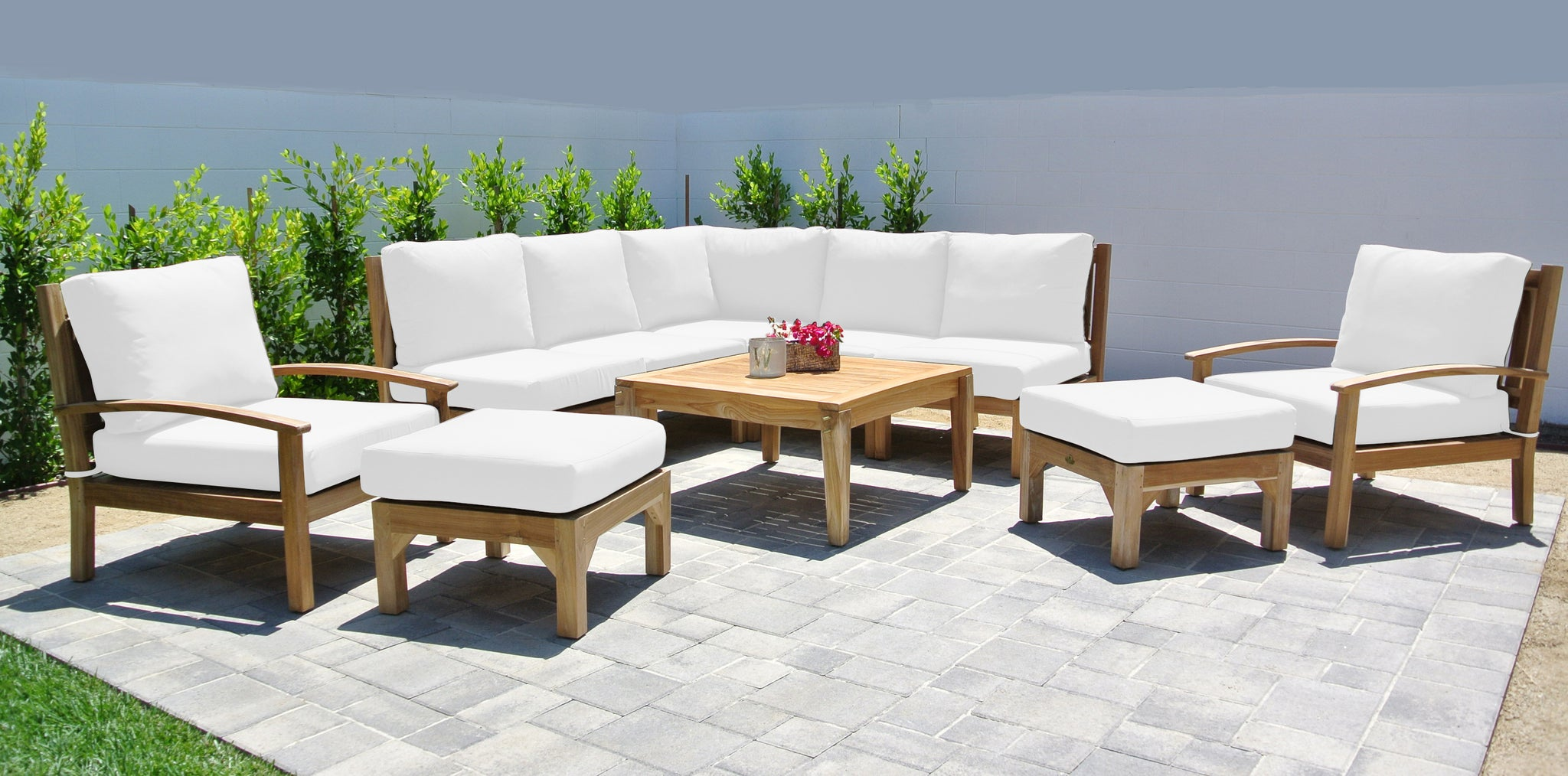 Huntington Teak Outdoor Sectional Sunbrella Patio