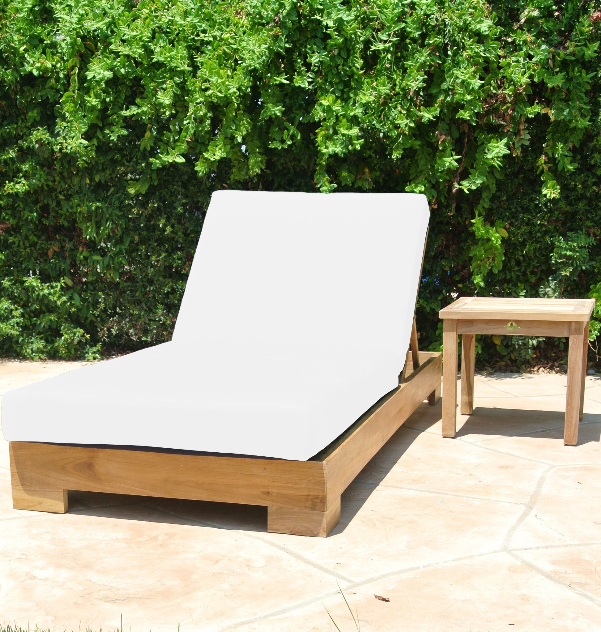 Picture of: Teak Outdoor Chaise Lounge Teak Lounger Lounge Outdoor Furniture Willow Creek Designs