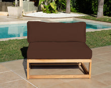 Laguna Teak Outdoor Small Armless Chair. Sunbrella Cushion