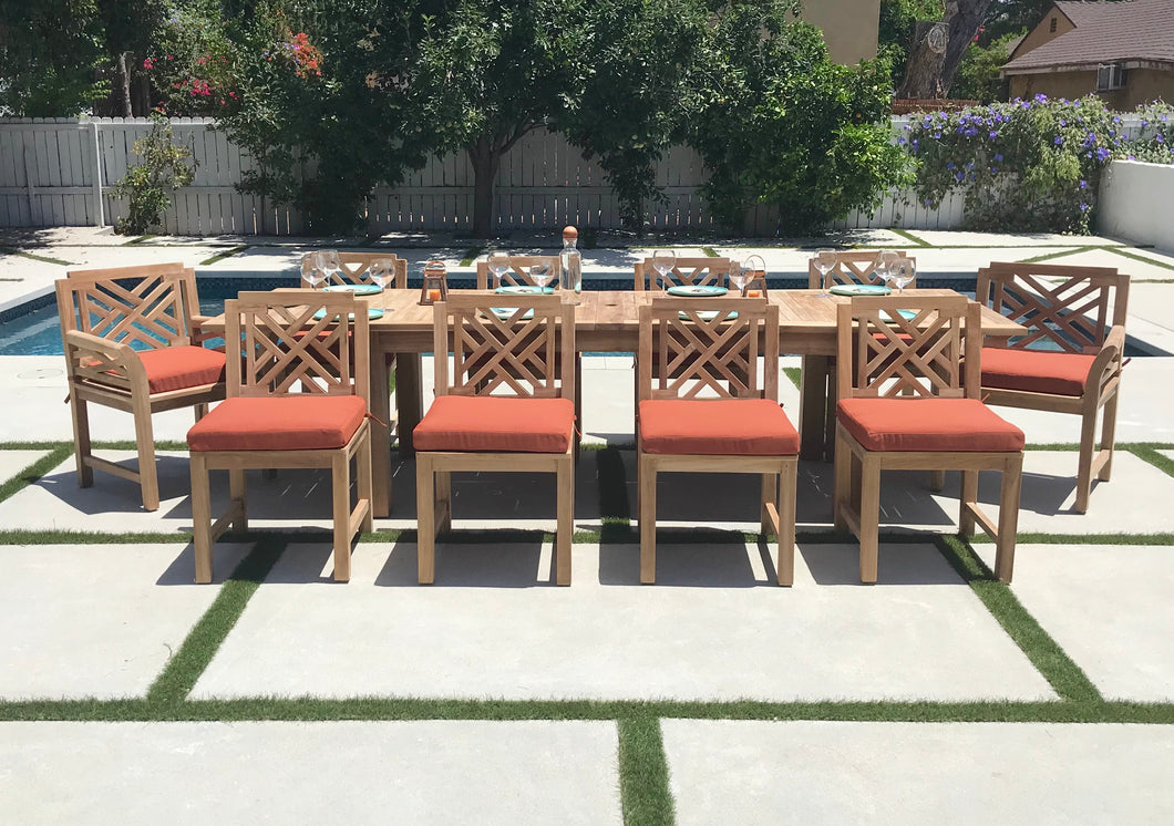 11 pc Monterey Teak Dining Set with 120