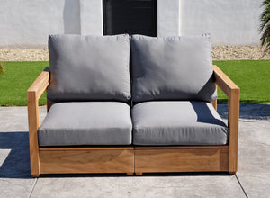 "6 pc Chatsworth Teak Deep Seating Deluxe Sofa with 36"" Coffee Table. Sunbrella Cushion"