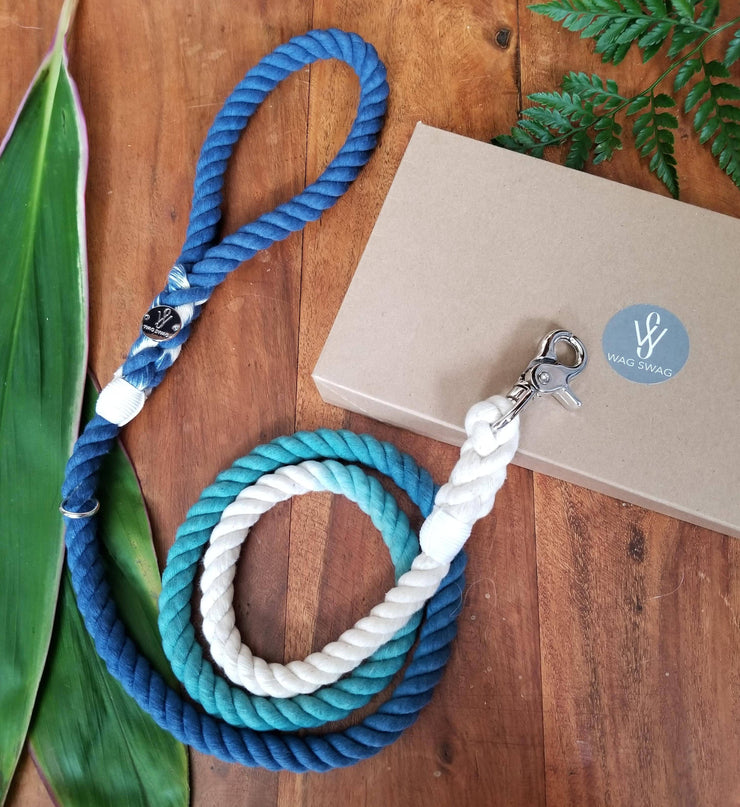 BLUE X TEAL, Cotton Rope Leash