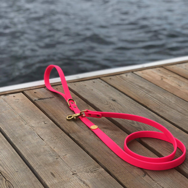 Vegan Leather Leash | Neon Pink