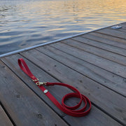 High end dog leash red