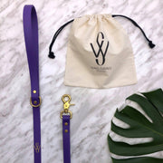 Vegan Leather Leash | Purple