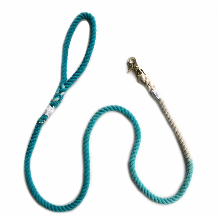 Teal, Cotton Rope Leash