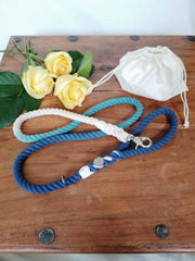 Blue and Teal | Cotton Rope Leash