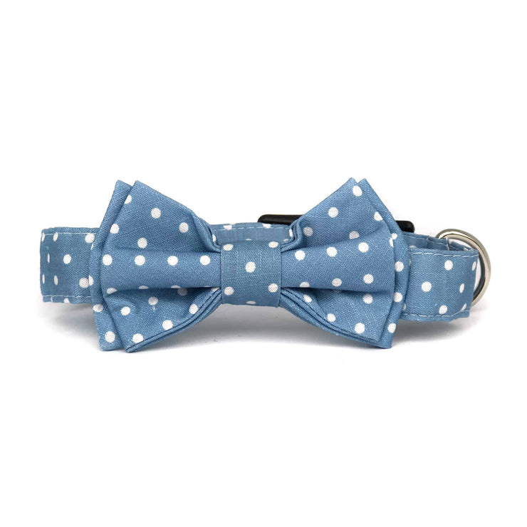 Bow Tie Collar|  Polka Dot Baby Blue