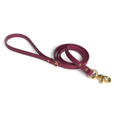Vegan Leather Leash | Burgundy