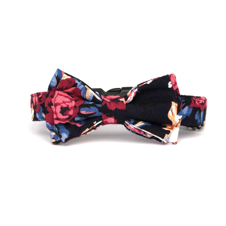Bow Tie Dog Collar | Flowers