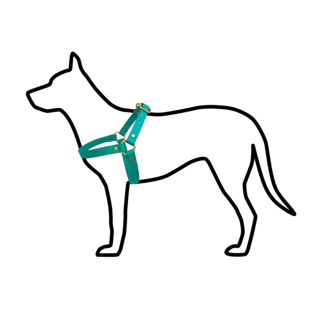 Vegan Leather Harness Hunter Green