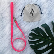 Vegan Leather Leash | Pink
