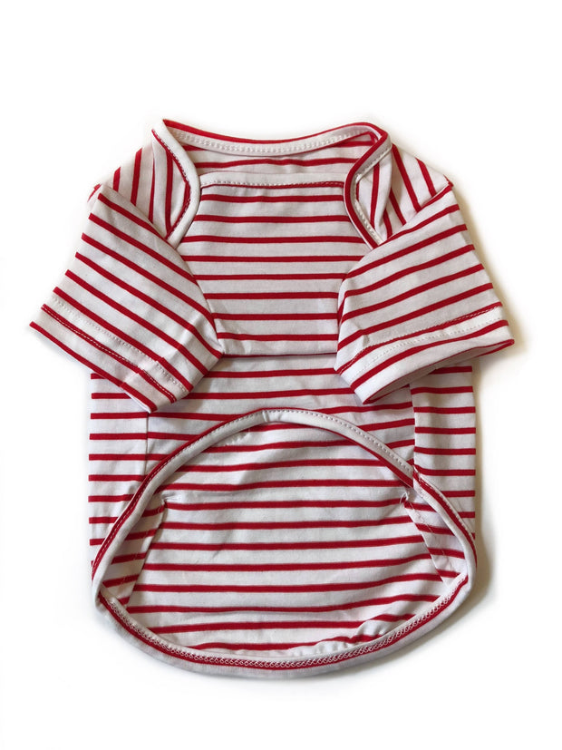 The Ultimate Red Striped Tee - Wag Swag Brand Inc