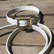 White | Vegan Leather Collar