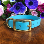 Vegan Leather Leash | Baby Blue