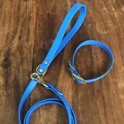 Vegan Leather Leash | Ocean Blue