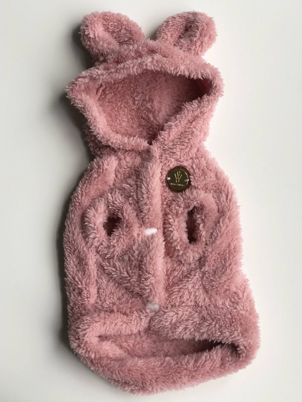 Fleece Dog Coat Teddy Pink - Wag Swag Brand Inc