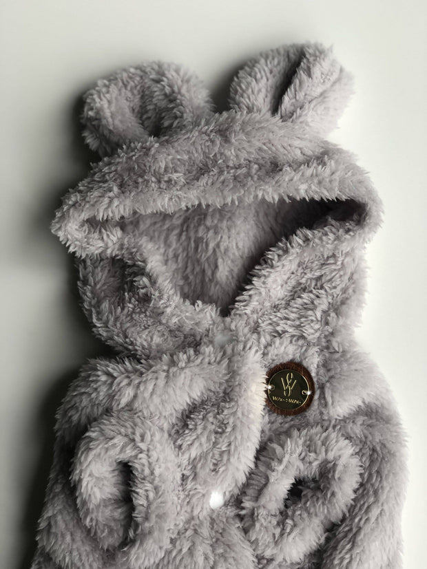 Teddy Coat Cozy Grey