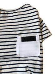 The Ultimate Navy Striped Tee - Wag Swag Brand Inc
