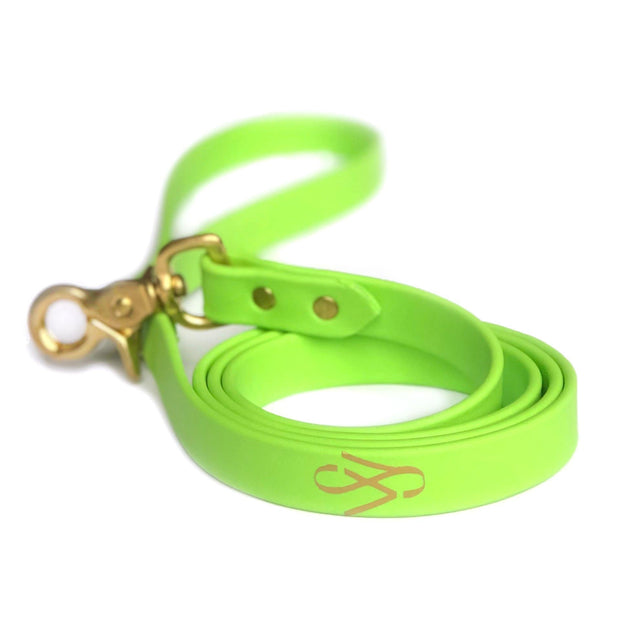 Vegan Leather Leash | Lime Green
