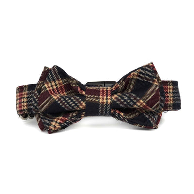 Bow Tie Dog Collar | Plaid