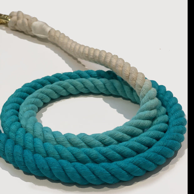 Teal | Cotton Rope Leash