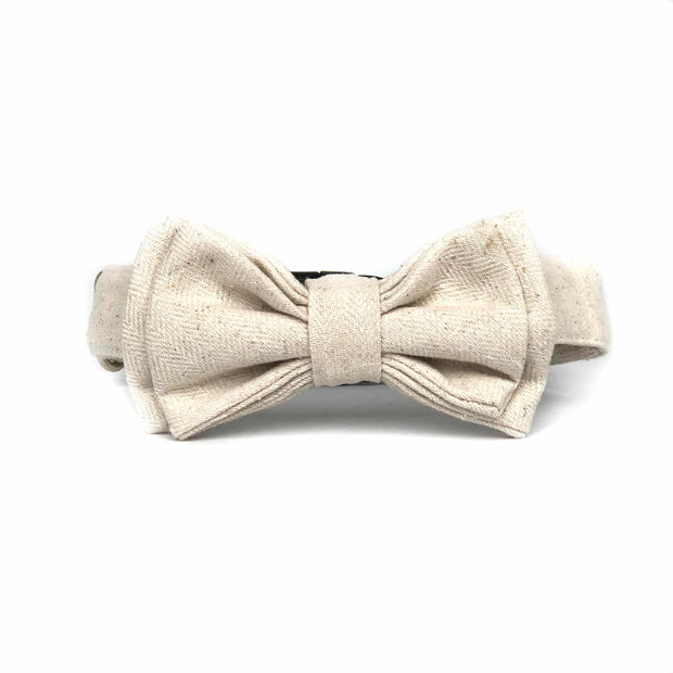 Bow Tie Dog Collar | Classic White