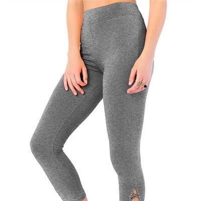 High Waist Lattice Capri Yoga Pant