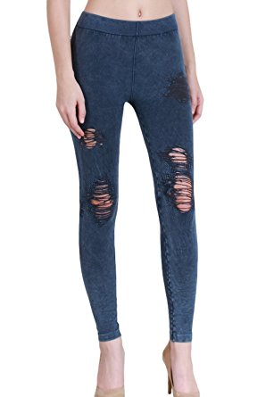 Vintage Destroyed Modal Leggings