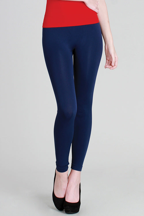 Solid Color Ankle Legging