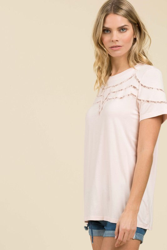 Lace Scrolling Tee