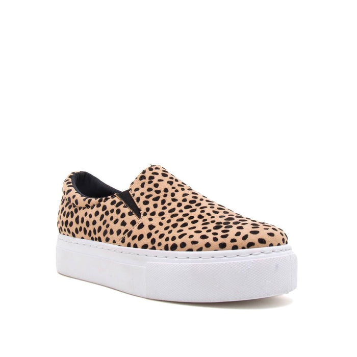 Platform Sueded Leopard Sneakers