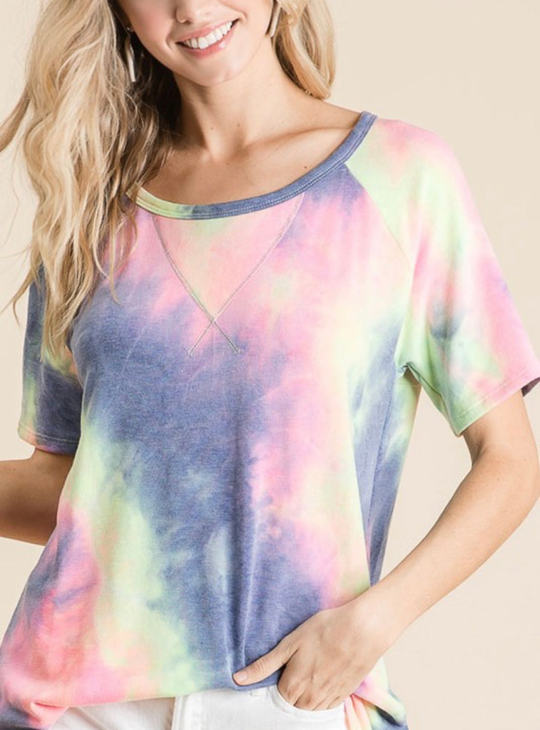 French Terry Tie-Dye Top