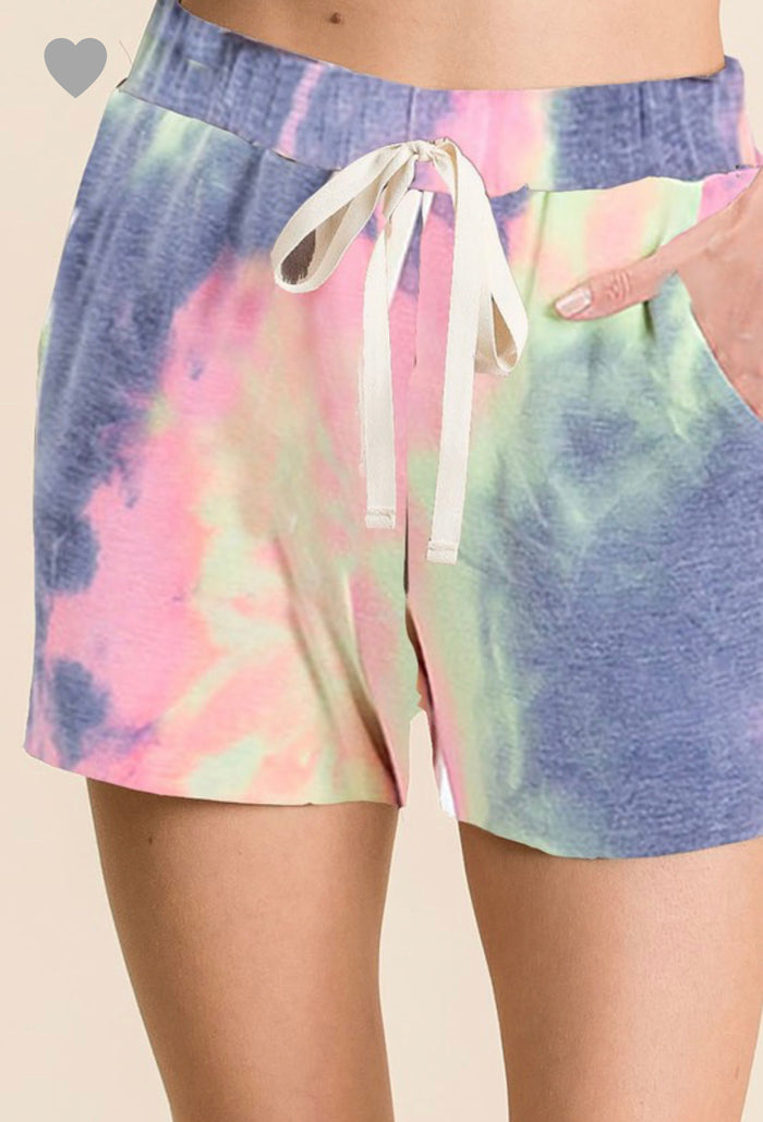 French Terry Tie-Dye Shorts
