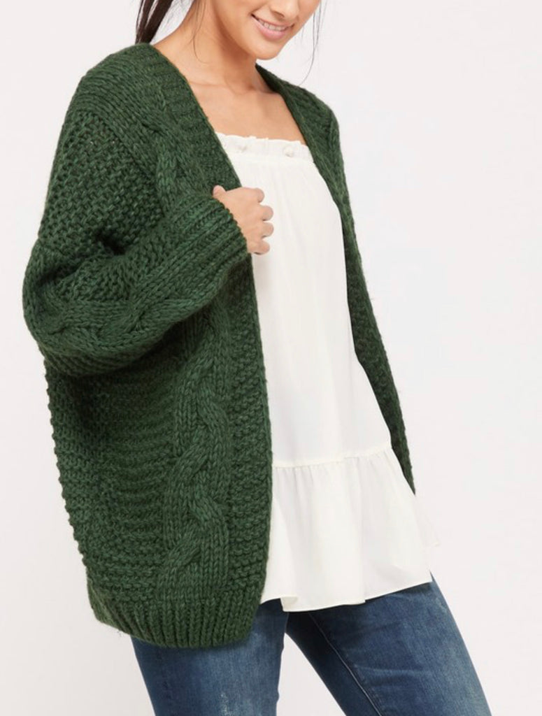 Hand Knitted Cable Cardigan